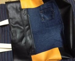 黒と黄色トートバッグ