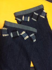 ジーンズ裾簡単リメイク